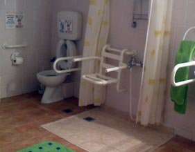 Services hotels guesthouses apartments - Accessible Villa Toilette - Greece Resort Bathroom