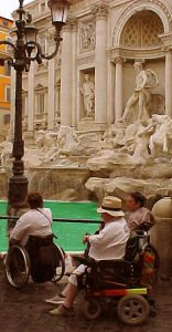Accessible Tourism for All - Rome Tourists at Trevi Fountain
