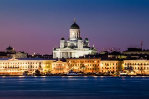 Accessible Finland - Helsinki - Night panorama