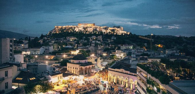 Accessible Greece - Athens - Night landscape
