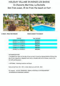 Atlantic accessible holiday resorts - Ronce les Bains